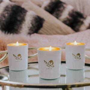 Botanical Candle 190g – Mini Gift Set – Vetiver, Rosewood, & Pine