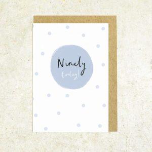 Age 90 greeting card