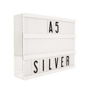 A5 Silver Lightbox - A5 Metalic Light Box SL Front Angle Web 500x500