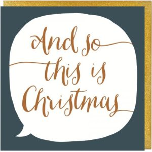 And So This Is Christmas Song Lyrics Christmas Card - And So This Is Christmas Card 500x500