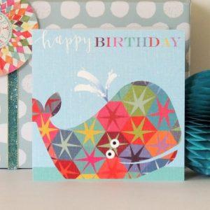 BH08 whale birthday card - BH08B 500x500