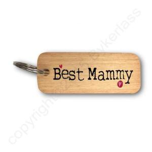 Best Mammy Rustic Wooden Keyring – RWKR1 – Pack of 6