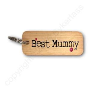 Best Mummy Rustic Wooden Keyring – RWKR1 – Pack of 6