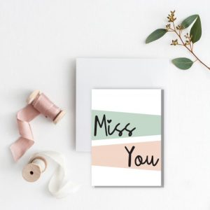 Miss You Card – Blank Inside – pack of 6