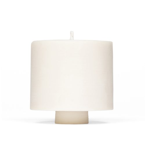 large soy wax pillar candle