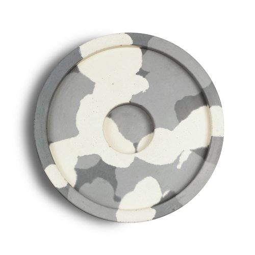 camouflage concrete candle plate