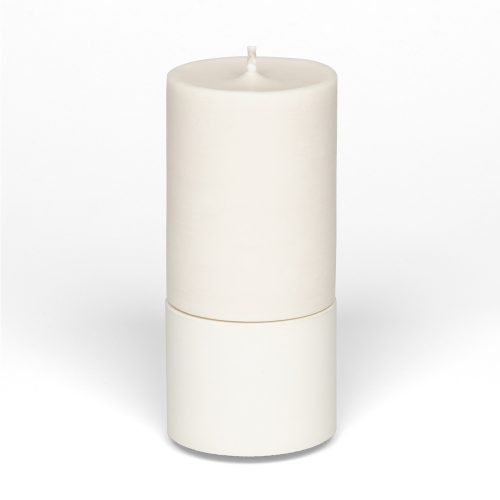 mid concrete holder and pillar candle
