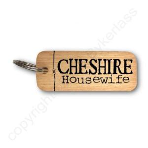 Cheshire Housewife Rustic Wooden Keyring – RWKR1 – Pack of 6