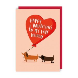 Fave Weirdo Valentine's Day Card pack of 6