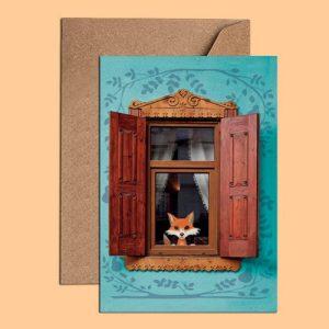 Birthday Card - Red Fox Birthday Card (WAC18548) - Fox Card WAC18548 500x500