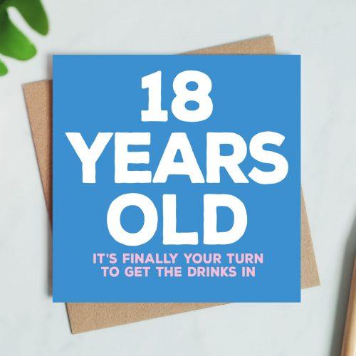 18 Years Old Birthday Card