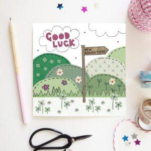 Flossy Teacake Good Luck Card