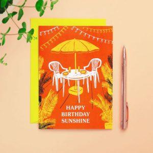 Happy Birthday Sunshine Card - Happy Birthday Sunshine 500x500