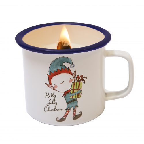 candle in a cup christmas elf