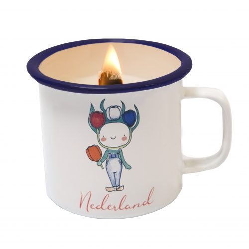 Candle in a cup tulip boy