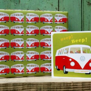 Camper Van Gift Wrap – 25 sheets (matching cards available)