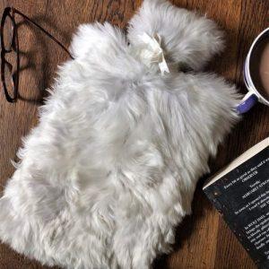 Alpaca Fur Hot Water Bottle – Ivory