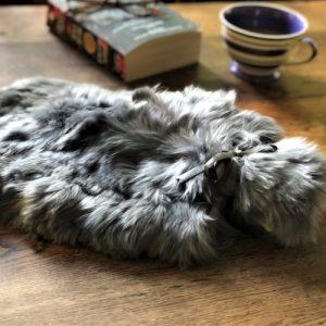 Alpaca Fur Hot Water Bottle – Steel