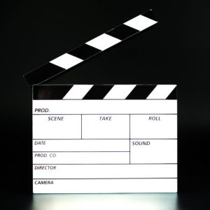 Mini Film Clapper Board Lightbox - MINI CLAPPERBOARD LIGHT ON FRONT 500x500