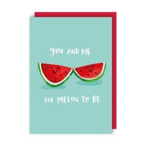 Melon Valentine's Day Card pack of 6