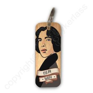 Oscar Wilde Character Wooden Keyring – RWKR1 – Pack of 6