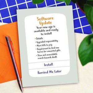 Software Update Birthday Card