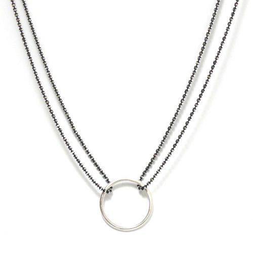 Sunburst Circles Doubles Oxidised necklace Design Vaults