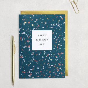Happy Birthday Dad Card - Terrazzo Happy Birthday Dad Card 500x500