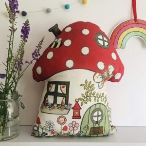 Flossy Teacake Toadstool Cushion - Toadstool 1 500x500