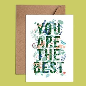 Sympathy & Motivational Card – You are the best (WAC18531)