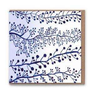 Sketchbook Vine Blank Greetings Card