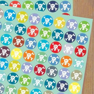 WP04 skulls wrapping paper