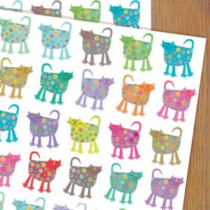 WP27 cats wrapping paper