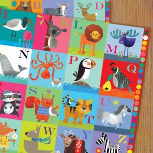 WP39 alphabet wrapping paper