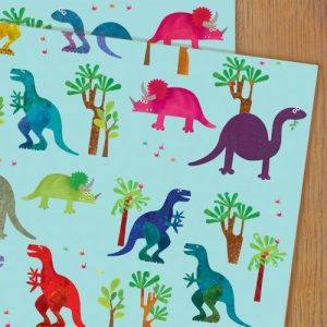 WP45 dinosaur wrapping paper