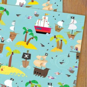 WP50 pirates wrapping paper
