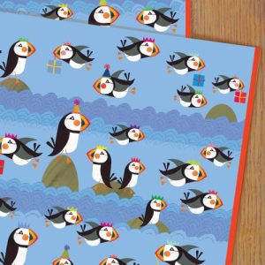 WP60 puffin wrapping paper