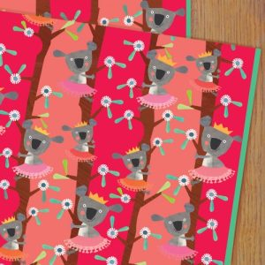 WP61 koala wrapping paper