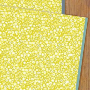 WP73 ditsy mustard floral wrap