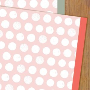 WP75 pink spots wrapping paper