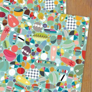 WP86 pebbles wrapping paper