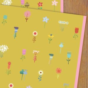 WP87 yellow flowers wrapping paper