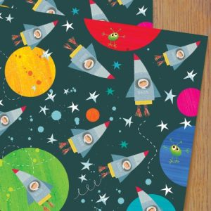 WP90 spacemen wrapping paper