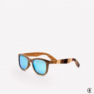Wooden Sunglasses | Maverick | Ice Blue Lens