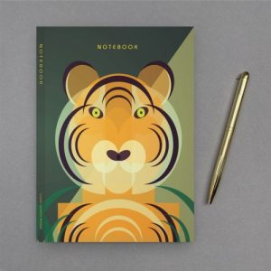 A5 Tiger Notebook with Gold Foil