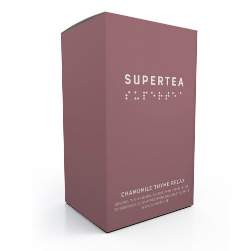 Supertea Chamomile Thyme Relax Organic Tea (Case Of 4)