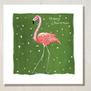 Christmas Flamingo Christmas Card (bundle of 6) - christmas flamingo 500x500