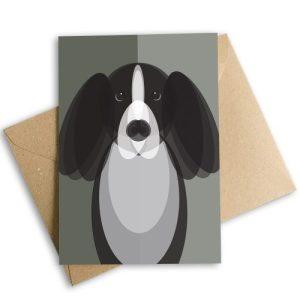 Spaniel Dog Greetings Card, Eco-Friendly