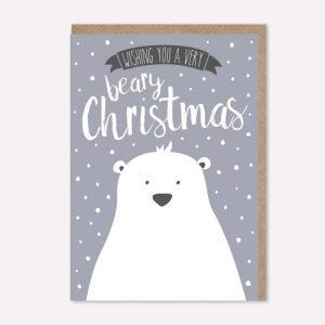 Christmas card – beary Christmas