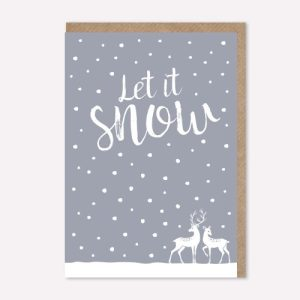 Christmas card – Let it snow